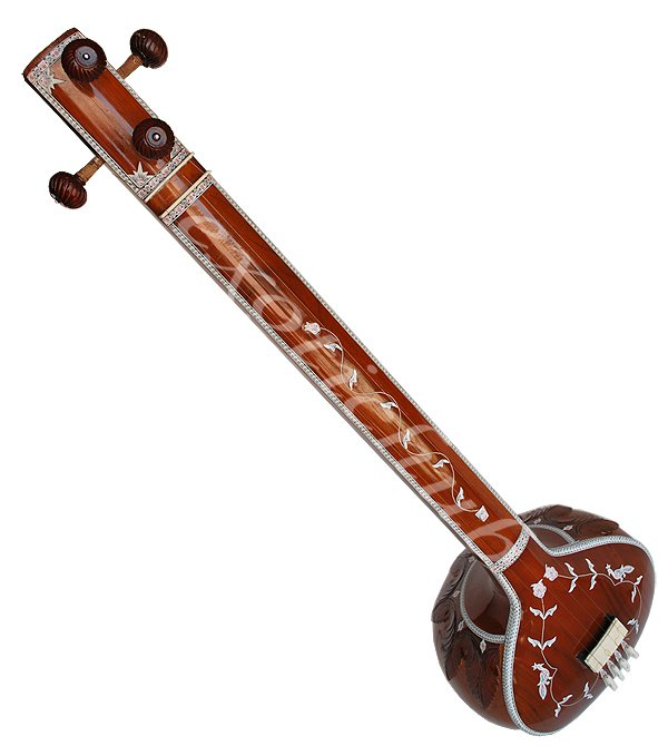 FEMALE TANPURA WITH FIBER BOX~DESIGNER TUN WOOD~CONCERT QUALITY~FULL SIZE~