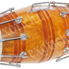 DHOLAK DRUM~MANGO WOOD~BOLT TUNED~DHOLAKI~NAAL~BHAJAN~KIRTAN~FREE! GIG BAG, KEY
