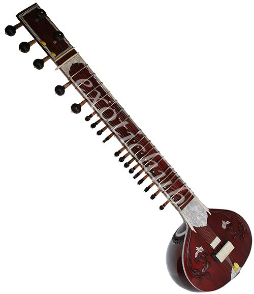 MUNDA SITAR WITH FIBER BOX~ TABLA DRUMS, TANPURA, HARMONIUM, SANTUR~STRING EHS