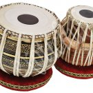TABLA DRUM~BLACK BRASS 2.5 KG BAYAN~SHESHAM WOOD DAYAN~YOGA~HAMMER/CUSHION/COVER