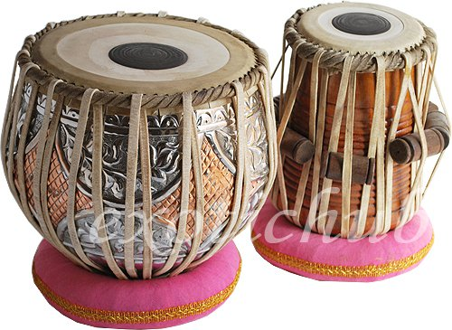 TABLA DRUMS SET~DOUBLE COLOR COPPER 4KG BAYAN~SHEESHAM WOOD DAYAN~TABLA EHS