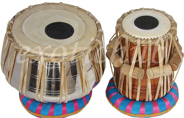 DELUXE STEEL TABLA DRUMS SET~PROFESSIONAL GRADE~ FREE!! BAG/BOOK/HAMMER/CUSHION