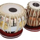 TABLA DRUM SET~SWASTIK/SHREE DESIGN BRASS 2.5 KG BAYAN~SHEESHAM WOOD DAYAN