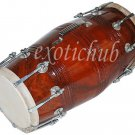 BUY DHOLAK DRUMS~SHESHAM WOOD~BOLT TUNED~DHOLKI~PAKHAWAJ~NAAL~USE IN KIRTAN~YOGA