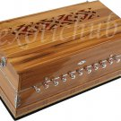 HARMONIUM~TEAK WOOD~SWAR DHARA~3½ OCTAVE~440 Hz~SHRUTI~KEYBOARD~CONCERT QUALITY