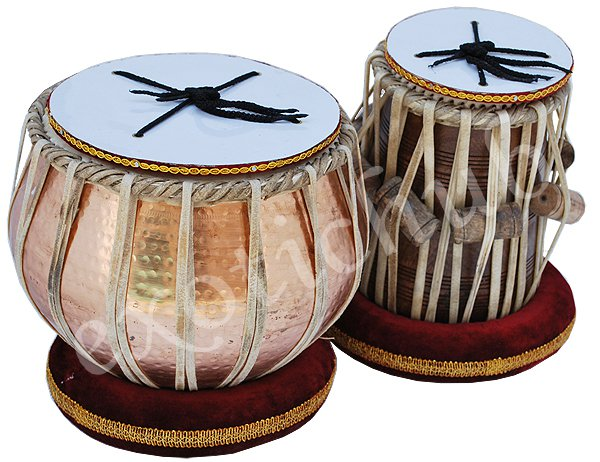 TABLA DRUMS SET~COPPER 5 KG HAMMERED BAYAN~FREE! BAG/HAMMER/BOOK/CUSHION/COVER