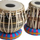 BRASS TABLA DRUM SET~BLACK PAINTED DESIGNER BAYAN~CAN PLAY WITH HARMONIUM, SITAR