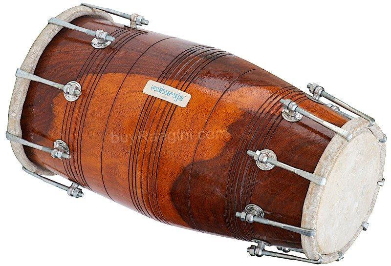 DHOLAKI MAHARAJA�SHESHAM WOOD/SPECIAL BOLT TUNED/WEDDING INDIAN DHOLKI/ABI-01