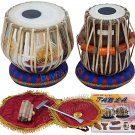 TABLA SET/MAHARAJA™/OM BRASS BAYAN 3 KG/ॐ/SHEESHAM DAYAN/INDIA INDIAN DRUMS/EC