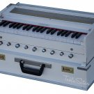HARMONIUM No.5800wh/FOLDING/MAHARAJA™/A440/SAFRI/WHITE COLOR/COUPLER/9S/BOOK/AHG