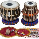 MAHARAJA™ TABLA DRUM SET/3KG BLACK BRASS BAYAN/SHEESHAM DAYAN/BAG/BOOK/BOX/EA-1