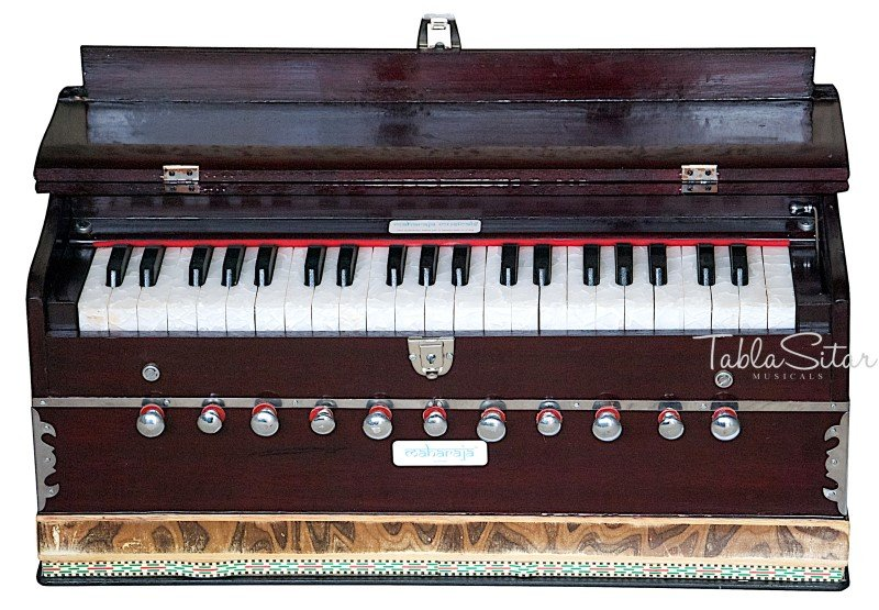 HARMONIUM No. 5600m/MAHARAJA�A440/11STOP/COUPLER/42KEY/MAHOGANY/BOOK/BAG/DD-2