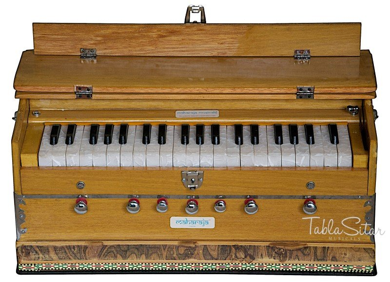 HARMONIUM No.5200n/MAHARAJA�7 STOP/3¼ OCTAVE/MULTI-BELLOW/COUPLER/BOOK/BAG/ABF-2