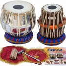 TABLA SET MAHARAJA™ CLASSIC/BRASS BAYAN 3KG/SHEESHAM DAYAN/CUSHIONS/USA RTN/CG