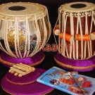 TABLA SET/MAHARAJA™/EK ONKAR BRASS BAYAN 3KG/ੴ/SHEESHAM DAYAN/HANDMADE/BAG/IH-02