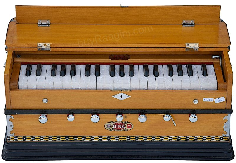 BINA� NO.8  HARMONIUM/COUPLER FUNCT./39 KEY/NATURAL COLOR/3¼ OCTAVES/BAG/DJF-2