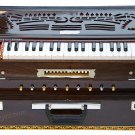 HARMONIUM No. 6400tw/CALCUTTA/MAHARAJA/TEAK/FOLDING/4 REED/COUPLER/37 KEYS/BDF-1