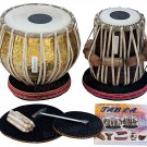 TABLA SET DELHI MAHARAJA™/PRO GOLDEN BRASS BAYAN 3.5KG/SHEESHAM DAYAN/BAG/BHB-2