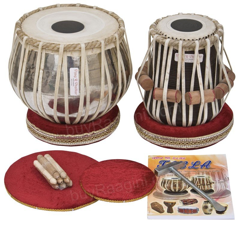 TABLA SET VHATKAR�/BUY PROFESSIONAL CHROME BRASS BAYAN 2½KG/SHESHAM DAYAN/BBE-01