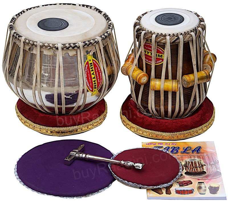 TABLA SET MUKTA DAS�/NEW CONCERT CHROME COPPER BAYAN 4KG/SHISHUM DAYAN/AEB-02