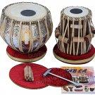 TABLA SET MAHARAJA™ TWIN-COLORED/BRASS BAYAN 3KG/SHEESHAM DAYAN/BOOK/BAG/FD