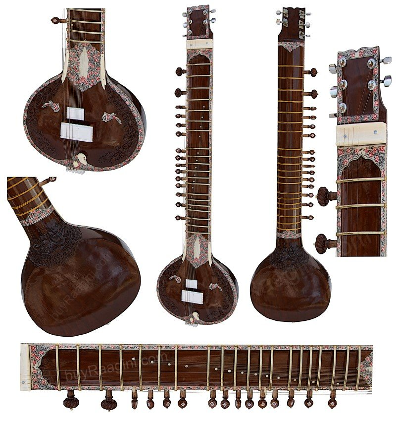 MAHARAJA� ELECTRIC SITAR/SINGLE FLAT TUMBA/KHARAJ PANCHAM/DARK NATURAL/DJE