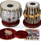 TABLA SET/MAHARAJA™/PRO DESIGNER BRASS BAYAN 3.5KG/FINEST SHEESHAM DAYAN/BAG/BHA