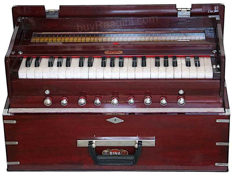 HARMONIUM FOLDING BINA� NO.23 B DELUX/COUPLER FUNCT./42 KEY/ROSEWOOD/BAG/AGH-1