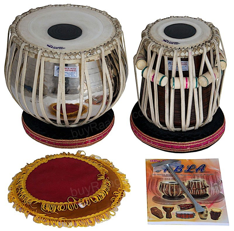 BUY TABLA SET AKBAR MIAN & BROS� STANDARD/BRASS BAYAN 3KG/FINEST DAYAN/BFJ-14