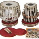 TABLA SET/VHATKAR™/CONCERT CHROMED COPPER BAYAN 4KG/BLACK SHEESHAM DAYAN/BBD