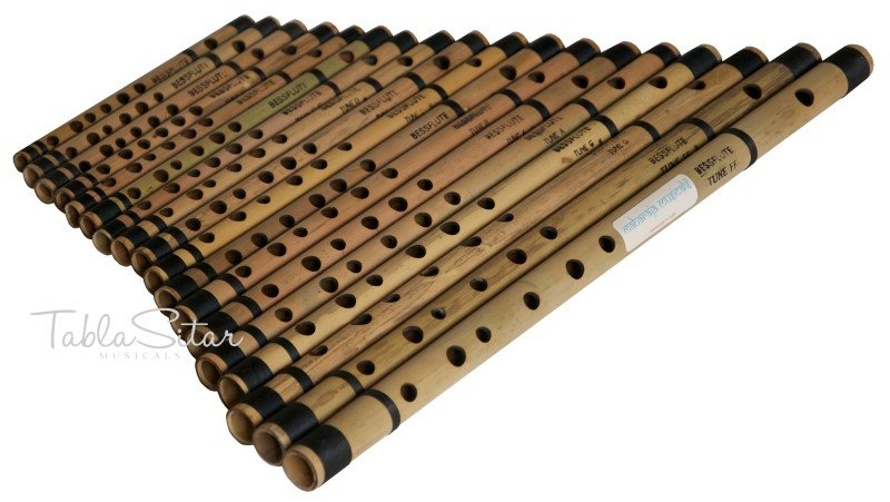 18 BANSURI MAHARAJA�/INDIAN BAMBOO FLUTE/FF to A#/BANSARI/FLUTES FOR SALE/ABE-2