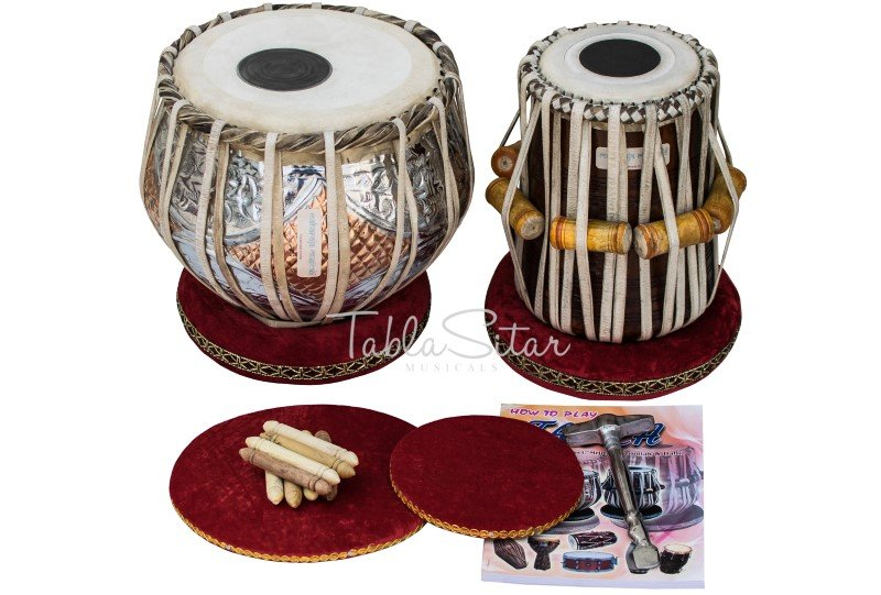 TABLA SET/DOUBLE COLOR/MAHARAJA�/COPPER BAYAN 3KG/SHEESHAM DAYAN/ALL ACCES/IG