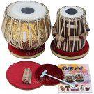 TABLA SET MAHARAJA™/DESIGNER BRASS BAYAN 3.5KG+SPECIAL SHEESHAM DAYAN+ACS+BAG/FG
