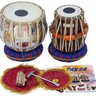 TABLA SET/MAHARAJA™/SWASTIK BRASS BAYAN 3KG/SHEESHAM WOOD DAYAN/ACCES./BAG/FE-1