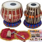 TABLA SET/MAHARAJA™/RED BRASS BAYAN 3KG/SHEESHAM DAYAN/DUGGA/INDIAN DRUMS/FC-1