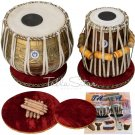 TABLA SET MAHARAJA™ GANESHA KALASH DESIGNER BRASS LACQUER FINISH BRASS 3.5K/BHE