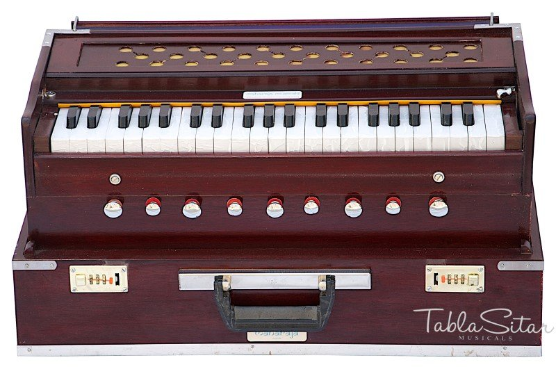 HARMONIUM No.5800r/FOLDING/MAHARAJA�A440/ROSEWOOD COLOR/COUPLER/9STOP/BOOK/AHF-1