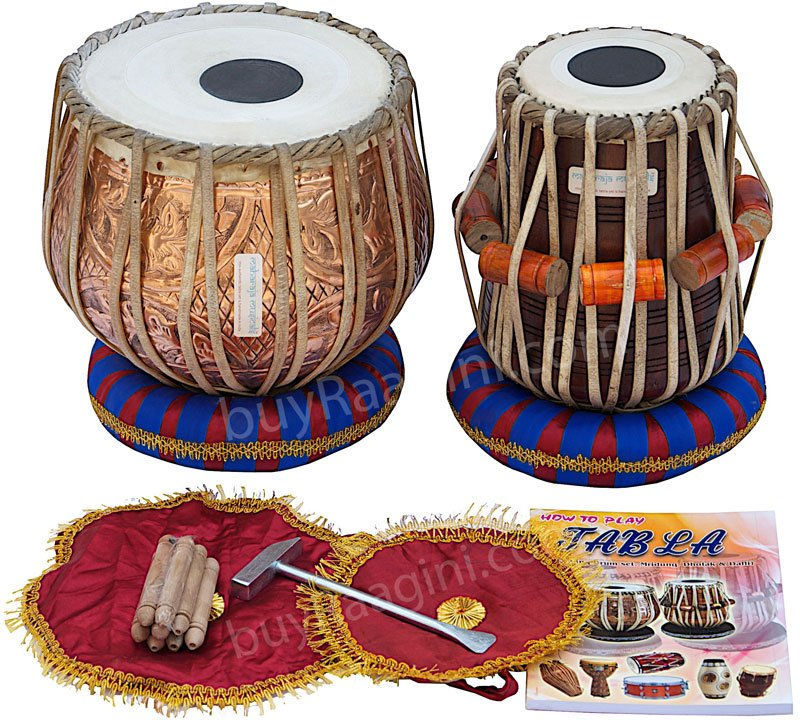 TABLA SET/MAHARAJA�/FLORAL DESIGN COPPER BAYAN 3KG/DAYAN/FREE SHIPPING/BAG/EB-2