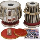 TABLA SET SHYAMAL DAS/COPPER BAYAN 3.5KG/SHEESHAM DAYAN/BOOK/HAMMER/CUSHIONS/ECG