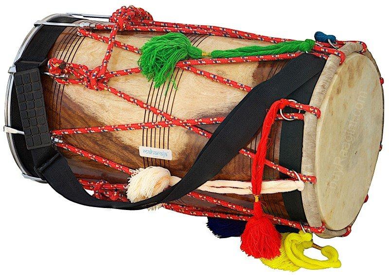 DHOL/NATURAL DHOL/MAHARAJA/DHOL PUNJABI BHANGRA/SYNT.HEADS/SHESHAM WOOD/ADA-02