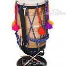DHOL MAHARAJA™/SHEESHAM WOOD PUNJABI BHANGRA DHOL/REMO HEAD/DRUM/NATURAL/ECB-02