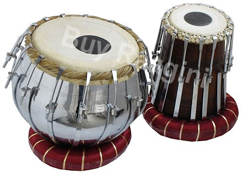 TABLA SET MAHARAJA�BOLT TUNED DRUMS/BRASS BAYAN 4KG/CUSHION/SHEESHAM DAYAN/EE-2
