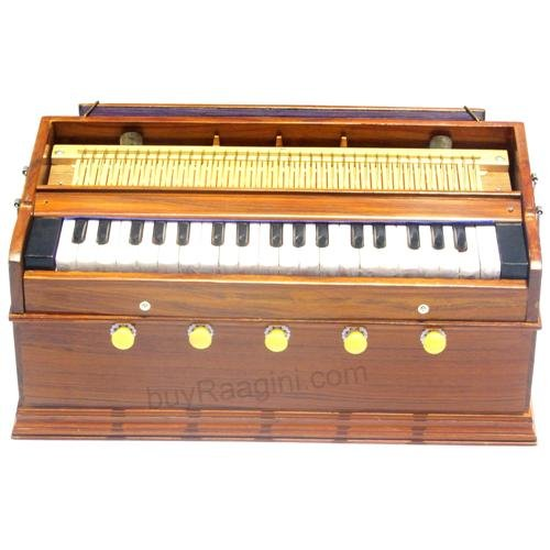 MKS/HARMONIUM/A440/5 STOP/37 KEYS/CONCERT/TEAK WOOD/HIGH QUALITY/BAG/BOOK/AHA