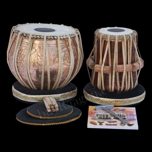 TABLA DRUM SET MAHARAJA LORD SHIVA DESIGNER COPPER BAYAN 4KG/SHISHAM DAYAN/CAA-2