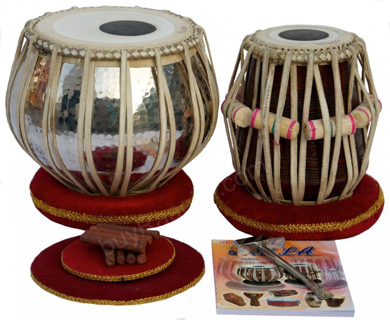 TABLA SET AKBAR MIAN & BROS� /4KG/COPPER BAYAN/HI-QUALITY DAYAN/ALL ACC./BFA-2