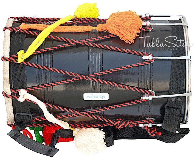 BLACK JUNIOR DHOL MAHARAJA�DHOL PUNJABI BHANGRA/SYNT.HEADS/MANGO WOOD/DRUM/ACI-2