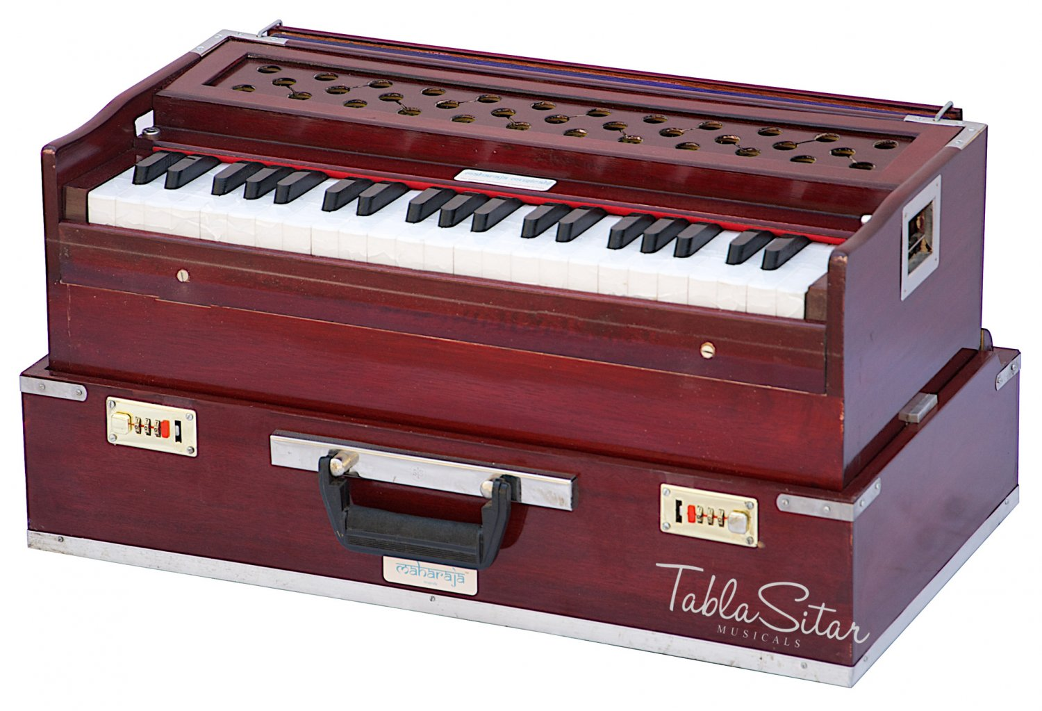 HARMONIUM No.6000r/FOLDING/MAHARAJA�/A440/SAFRI/ROSEWOOD COLOR/COUPLER/BAG/BFB-1