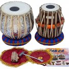 TABLA SET/MAHARAJA™/FLORAL CHROME COPPER BAYAN 3KG/SHEESHAM DAYAN/INDIAN/BAG-BEA