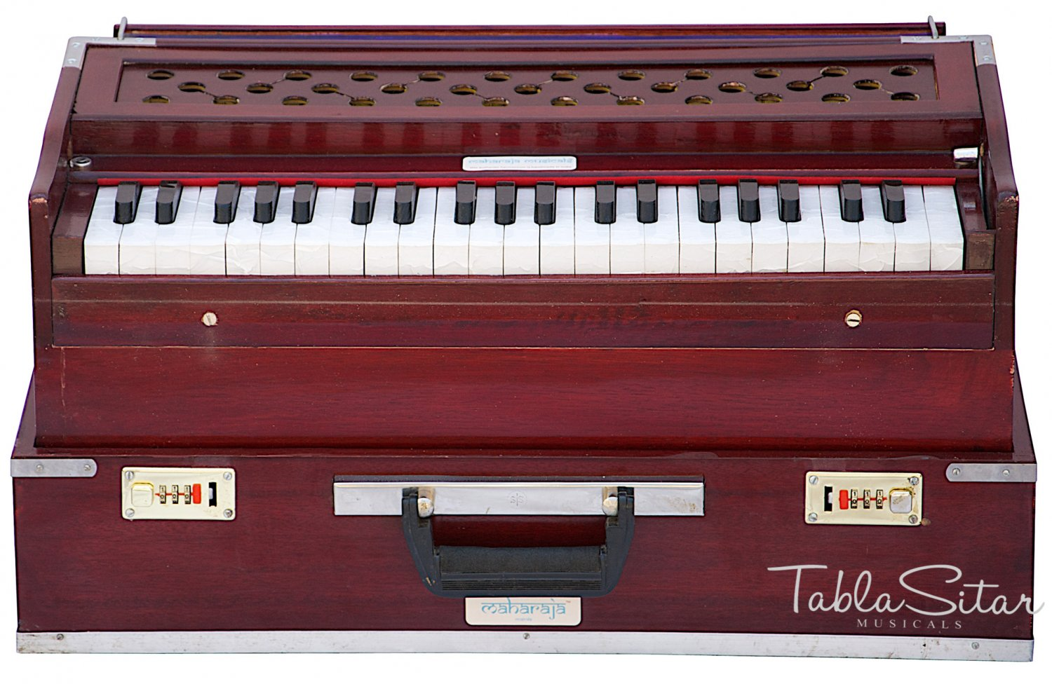 HARMONIUM No.6000r/FOLDING/MAHARAJA�/A440/SAFRI/ROSEWOOD COLOR/COUPLER/BAG/BFB-2