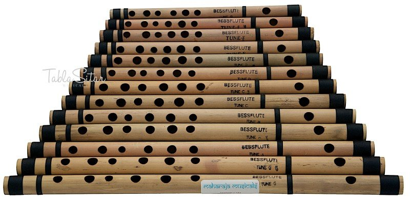 13 BANSURI MAHARAJA�/INDIAN BAMBOO FLUTE/G to A/BANSARI/FLUTES FOR SALE/ADJ-1